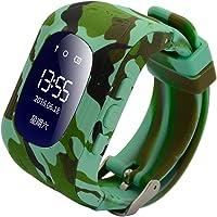 Reloj para Niños Q50, 9Tong Reloj Infantil Pulsera Inteligente Localizador Pantalla OLED con Smartphones (GPS, LBS, SOS…