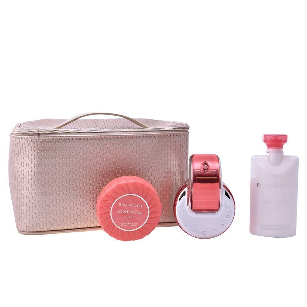 Bulgari Omnia Coral Femme set regalo, 1er Pack (Eau de Toilette 65ML, Lozione per il Corpo 75ML, 75G di sapone, tasche) 783320865602