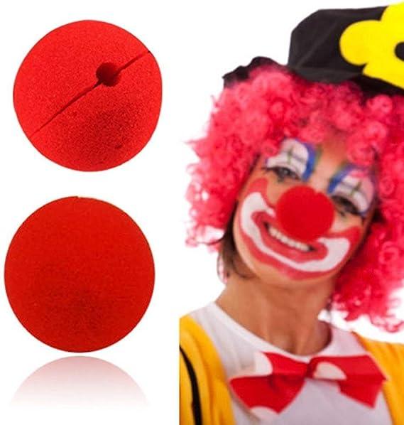 Costume Da Circo, Naso Clown Spugna Rosa