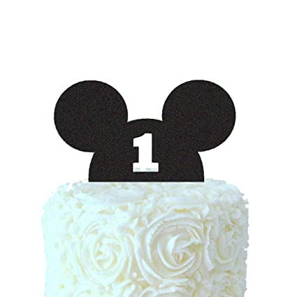 Surprising Mickey Mouse First Birthday Cake Topper Mickey Head One Cake Birthday Cards Printable Trancafe Filternl