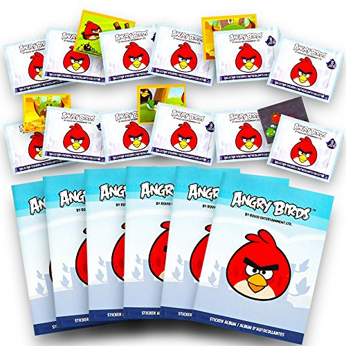 Angry Birds Ultimate Stickers Party Favors Pack -- 6 Angry Birds Sticker Albums and 12 Sticker Packs (Party Supplies Set)