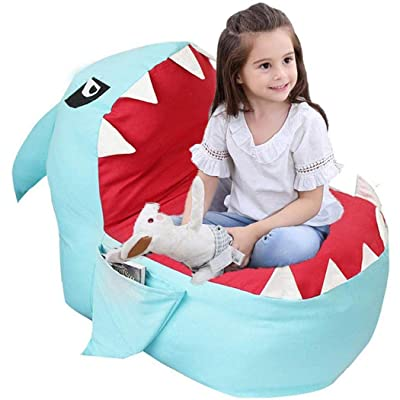 Xixou Children's Plush Toy Storage Bag Lazy Cartoon Sofa Baby Chair Push & Pull Toys : Baby