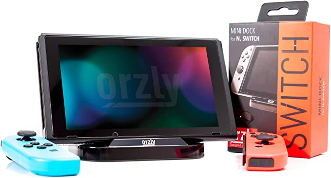 Mini Base de Carga de Orzly compatible con la Nintendo Switch - Negro - Mini Dock para Nintendo Switch Tablet (incluye Cable de alimentación USB a TypeC): Amazon.es: Videojuegos