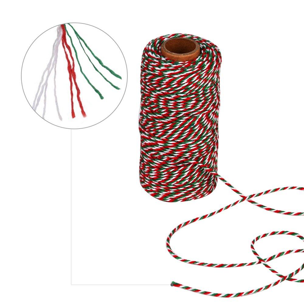 AIEX B/äckergarn Kunsthandwerk 100m insgesamt Packung Baumwoll Schnur Bastelschnur B/äcker Bindf/äden String f/ür Kindertag 2 St/ücke