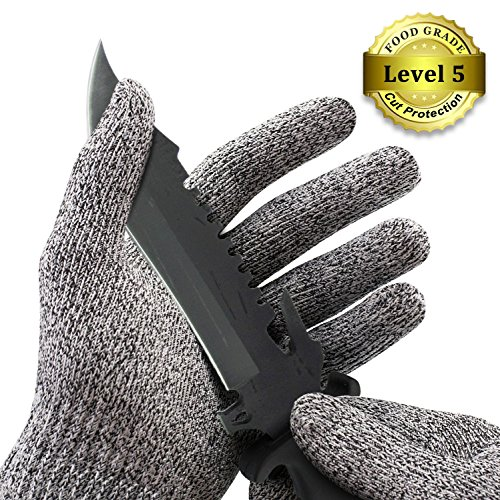 Homar Cut Resistant Gloves – High Performance Level 5 Cut Protection Food Grade Kitchen Cooking Gloves – Best in Safety Work Hand Protection Gloves – Comfortable Elastic Glove