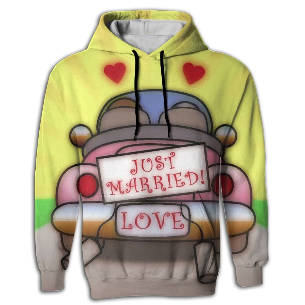 BINGGOO Love Wedding Novelty Hoodie Slim Lightweight Hoody