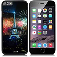 New Apple iPhone 6 s 4.7-inch CocoZ® Case Classic Paris Eiffel Tower Beautiful Night view PC Material Case (Black PC & Eiffel Tower 10)