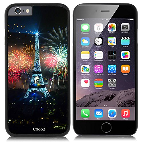 Price comparison product image New Apple iPhone 6 s 4.7-inch CocoZ® Case Classic Paris Eiffel Tower Beautiful Night view PC Material Case (Black PC & Eiffel Tower 10)