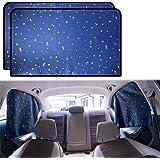 ZATOOTO Car Side Window Sun Shades - 2 Pcs Sun Protection Rear Magnetic Privacy Sun Shades Travel Curtain for Baby Kids Sleep