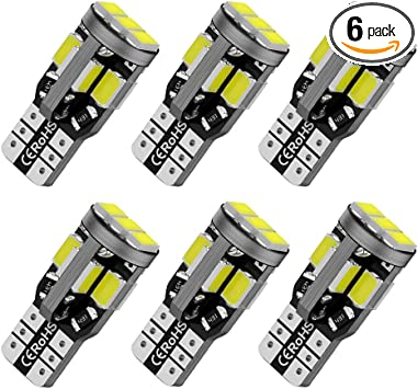 Pack of 2 BMTxms T10 194 168 LED Bulbs Extremely Bright 3020 Chipset for Car truck Interior Dome Map Dome Door Courtesy License Plate Side Marker Light 158 2825 W5W Xenon White