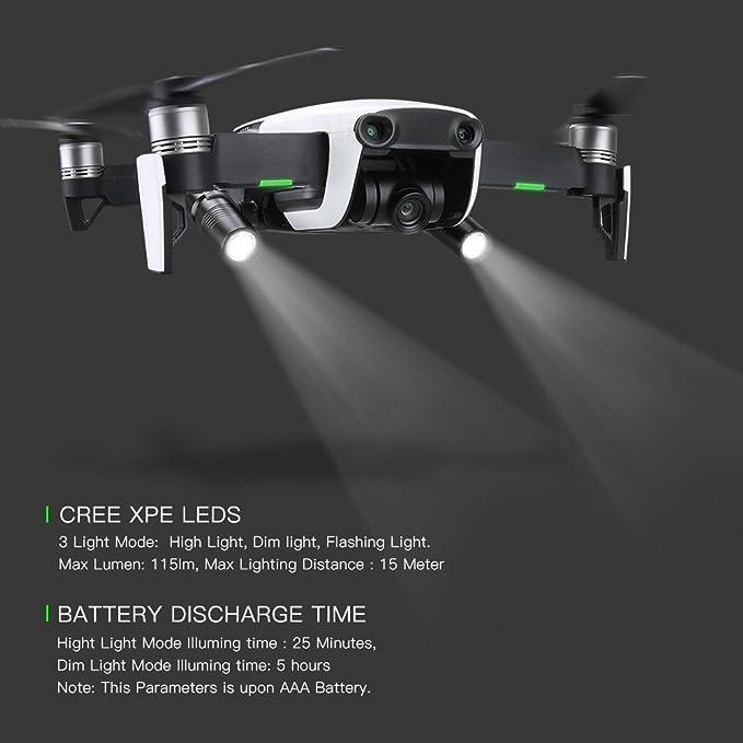 HMANE Flashlight Headlamp Night Cruise Light LED Lamp Flight Searchlight for DJI Mavic 2 PRO//Mavic 2 Zoom Drone