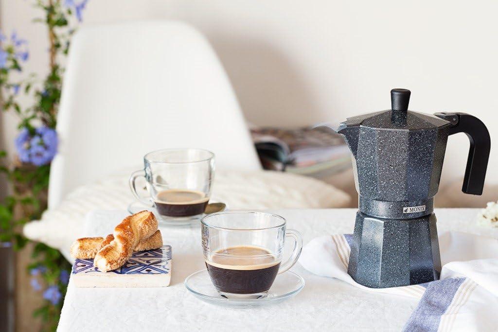 Monix Vitro Rock Aluminum Express Coffee Maker - 6 Cups