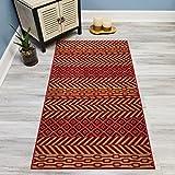 #7: Your Choice Length Reg & Beige Traditional Kilim Non-Slip Rubber Backed Carpet Runner Rug | 31-inch x 4-feet