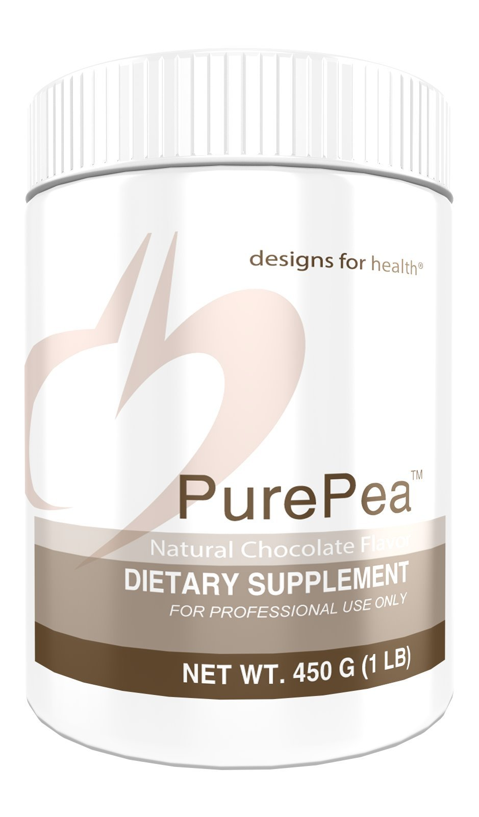 Designs for Health Pea Protein Powder in Chocolate - PurePea Chocolate, 20g Vegan Protein with Non-GMO Peas (1 lb / 15 Servings)