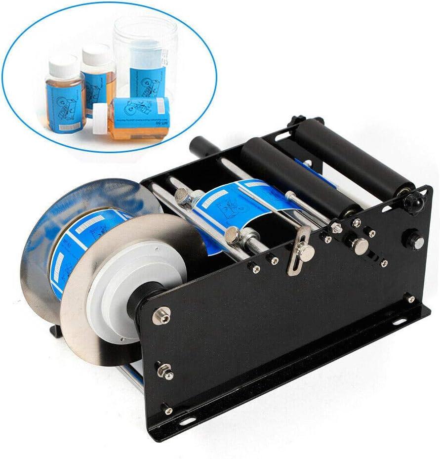 DiLiBee Máquina de etiquetado manual Máquina de embalaje semiautomática para botellas redondas a mano.