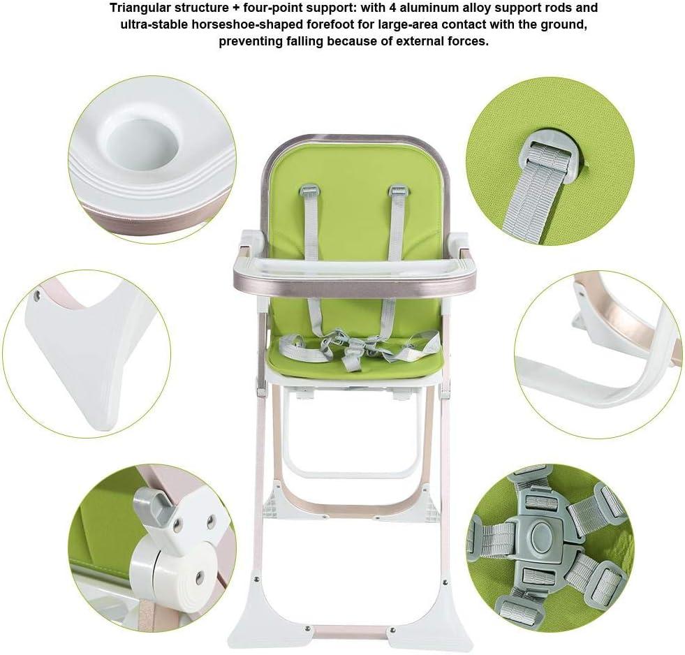 EBTOOLS Chaise Haute B/éb/é Pliable avec Plateau Amovible Chaise Haute Enfant avec Repose-Pieds et Ceinture de S/écurit/é Chaise Haute B/éb/é Stable pour Maison