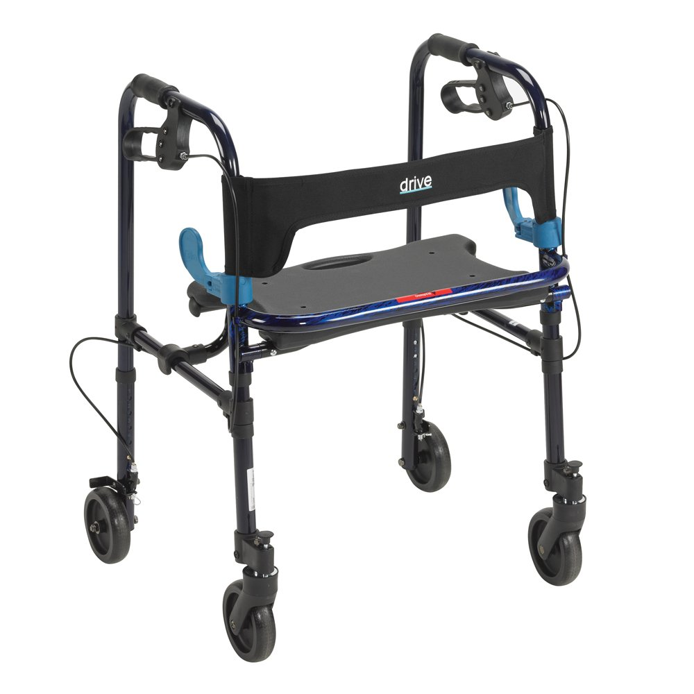 Drive DeVilbiss Healthcare 10230 Clever-Lite Walker, Adult, With 5'' Casters, Adult, Blue