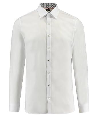 Olymp No.6 Herren Hemd No. Six Super Slim Fit Weiss (10)