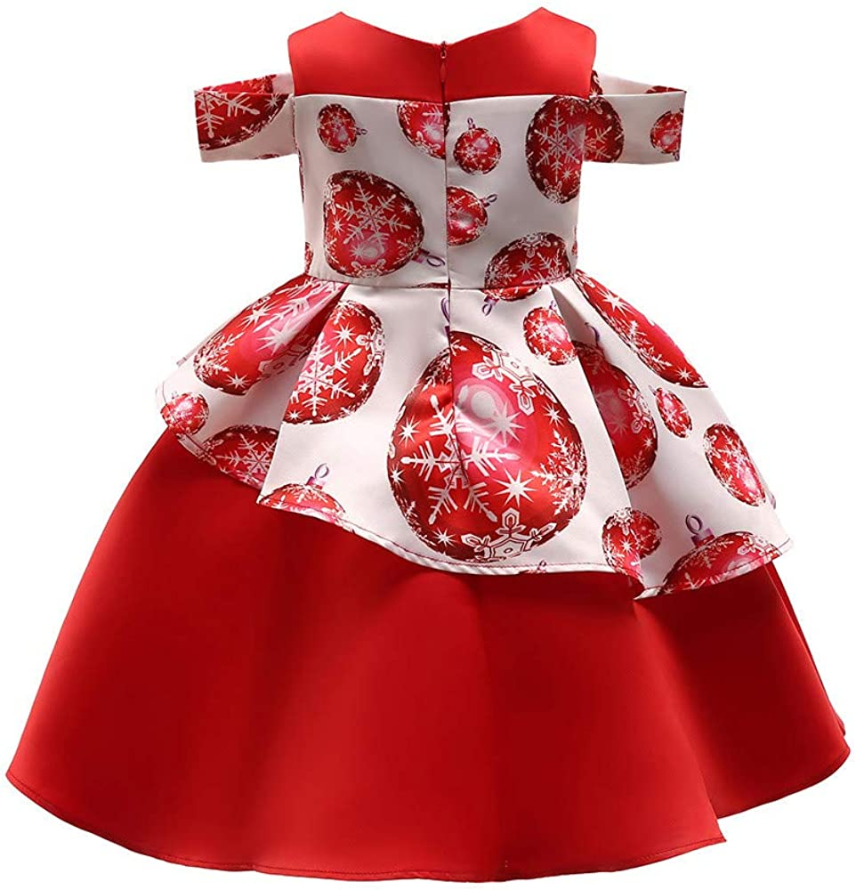 Baby Toddler Girls Christmas Clothes Party Dress 7-7 Years Old