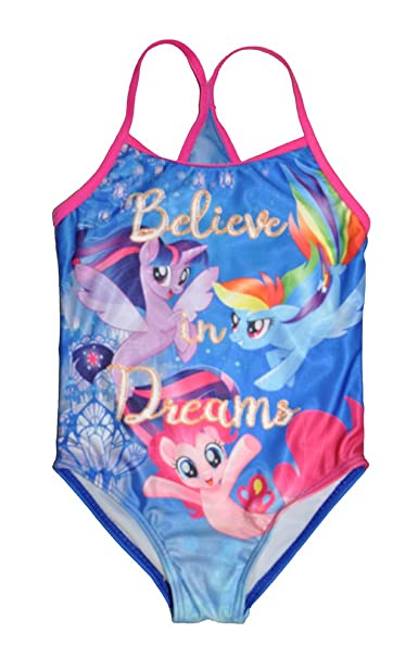 16f7d623c5424 My Little Pony Little Girls One Piece Swimsuit Blue: Amazon.ca: Clothing &  Accessories