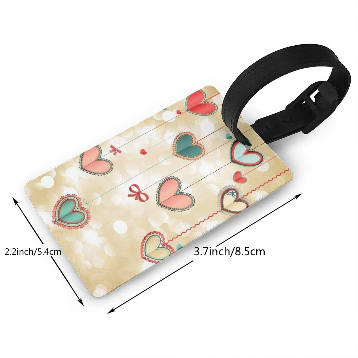 2 Pack Luggage Tags Love Hearts Cruise Luggage Tag For Travel Bag Suitcase Accessories