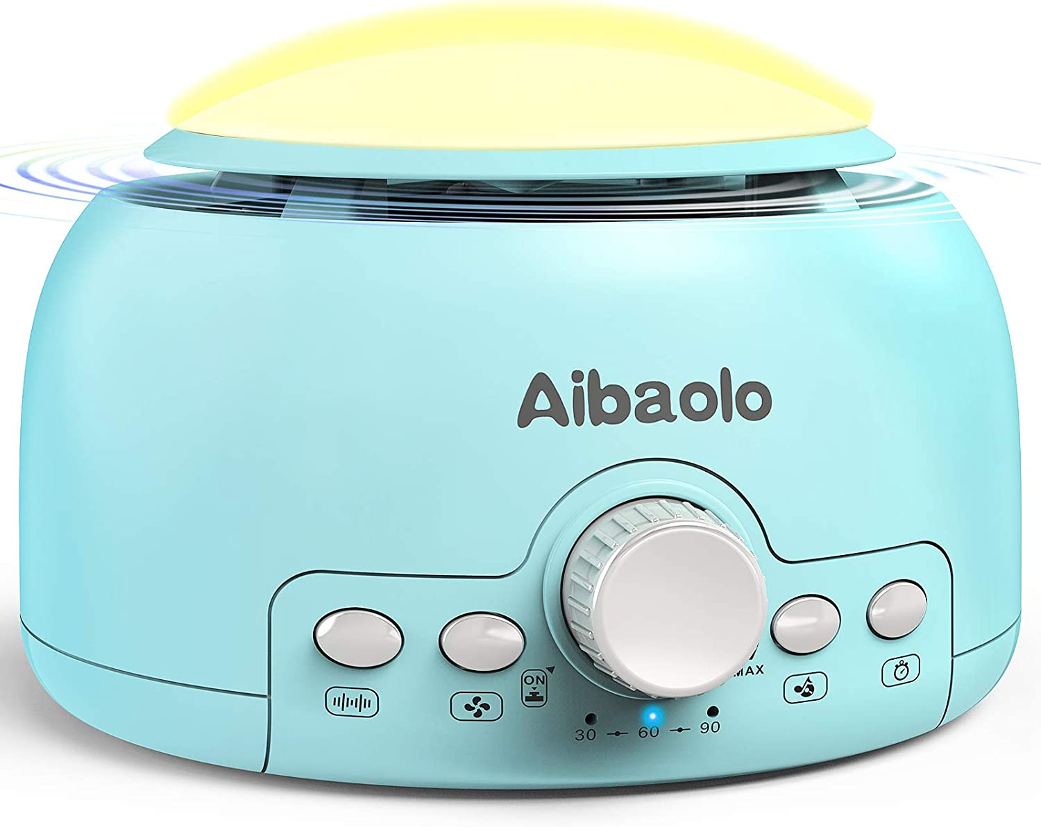 Aibaolo White Noise Machine, Sleep Sound Machine for Baby Kids Adults, 24 Natural Sounds Therapy, Night Light, Timer&Memory Function, Portable Sound Machine for Nursery Home Office Travel (Blue)