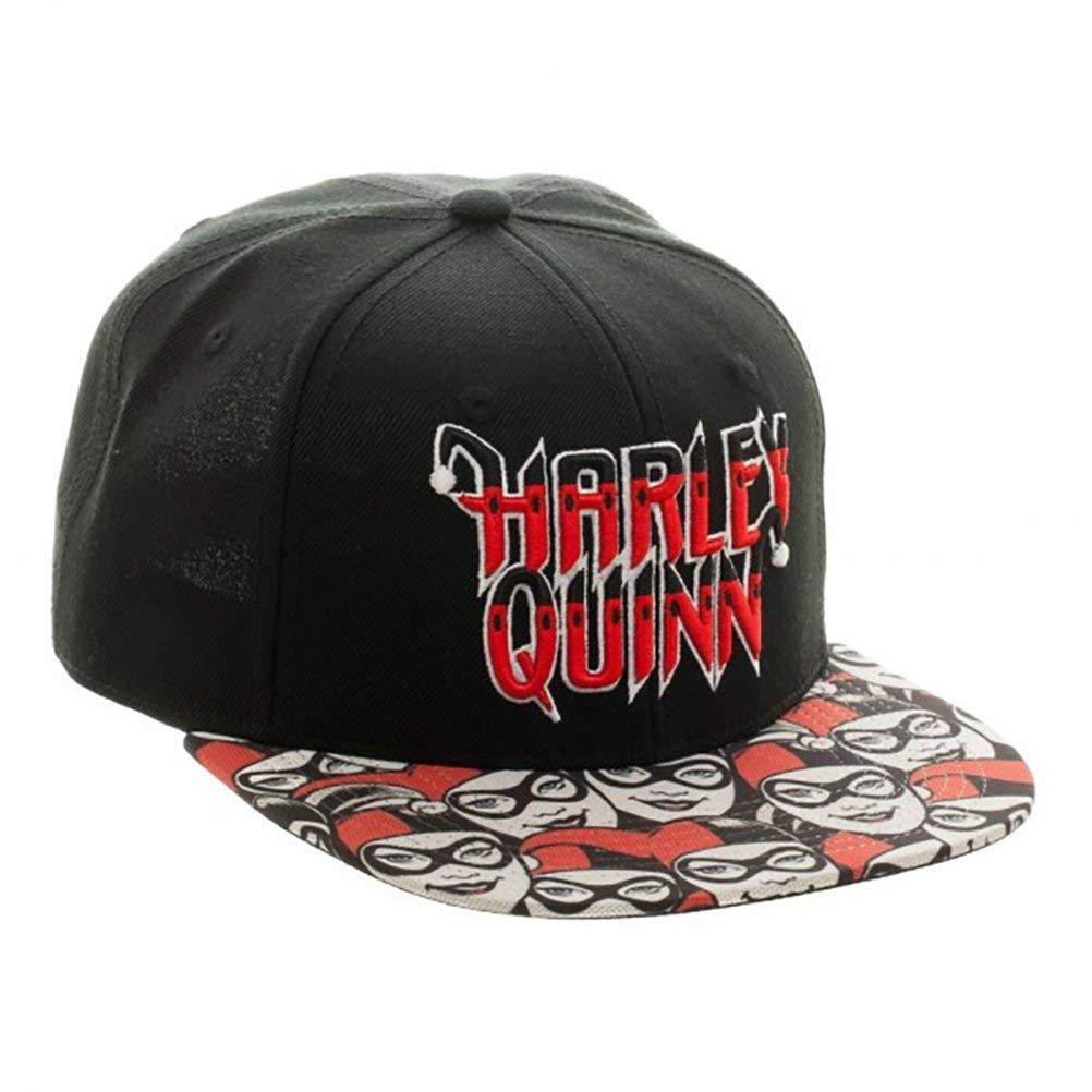 Harley Quinn Halftone Logo Snapback Cap black