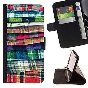 Momo Phone Case / Flip Funda de Cuero Case Cover - Moda tela Costura Diseño Ropa - Samsung Galaxy S6 Edge Plus / S6 Edge+ G928