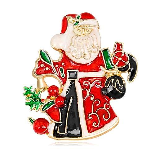 Guoyy Legierung Weihnachten Weihnachtsmann Brosche Corsage
