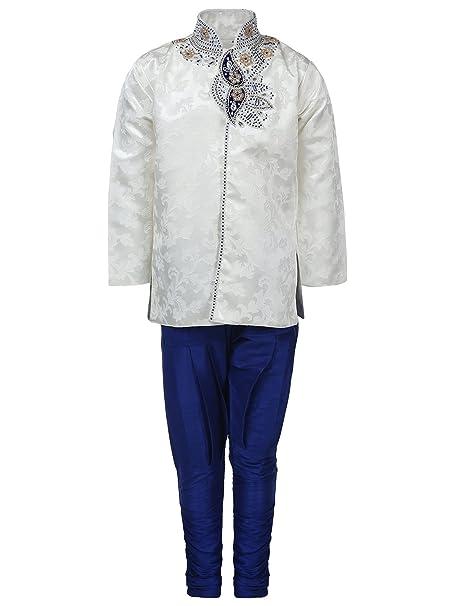 35a642e8f AJ DEZINES Boy s Silk Cotton Sherwani (Blue