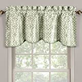Sheetsnthings 100% Polyester Mineral Halifax Scalloped Decorative Rope Embroidered Lined Valance 52″x19″(Single) For Sale