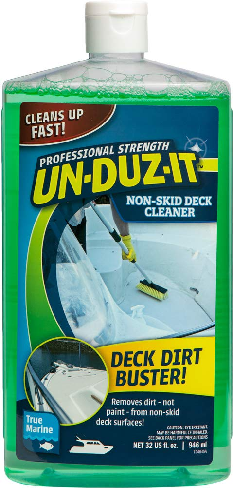 Un-Duz-It Non-Skid Deck Cleaner for Boats, Chelating Action Clears Dirt Fast, BIODEGRADEABLE