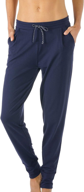 TALLA XS. MEY 16809-408 Women's Night2Day Night Blue Solid Colour Pajama Pyjama Pant