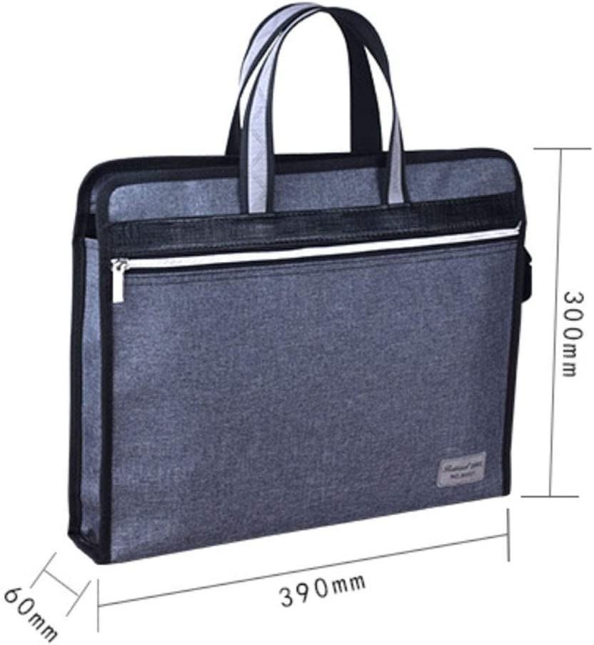 File bag portable file bag waterproof Oxford cloth briefcase information package