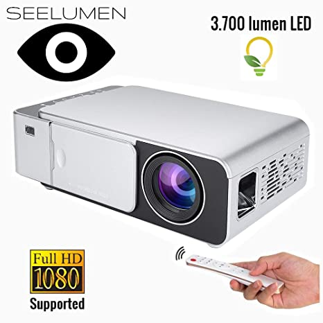 Proyector Portátil Full HD 1080P, Seelumen HD5000 (1920x1080 ...