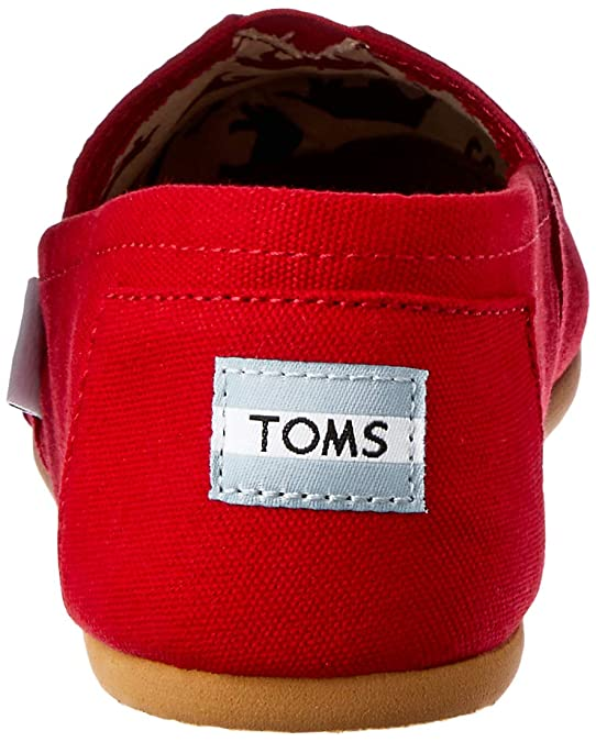 Amazon.com | TOMS Mens Classics Red Canvas 001001A07-RED | Fashion Sneakers
