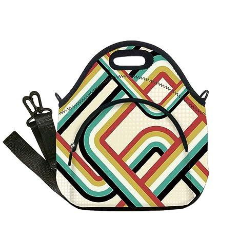 27bdea0f909e Amazon.com: Insulated Lunch Bag, Neoprene Lunch Tote Bags, Trippy ...