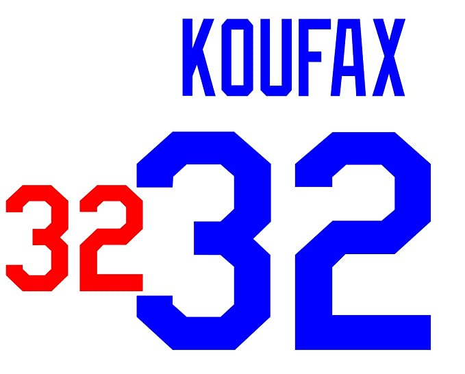 Sandy Koufax Los Angeles Dodgers Jersey Number Kit Authentic Home