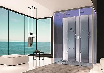 Baño Hoesch Vapor senseperience 180 x 100 cm ducha de vapor con ducha bañera técnicos empotrable: Amazon.es: Bricolaje y herramientas
