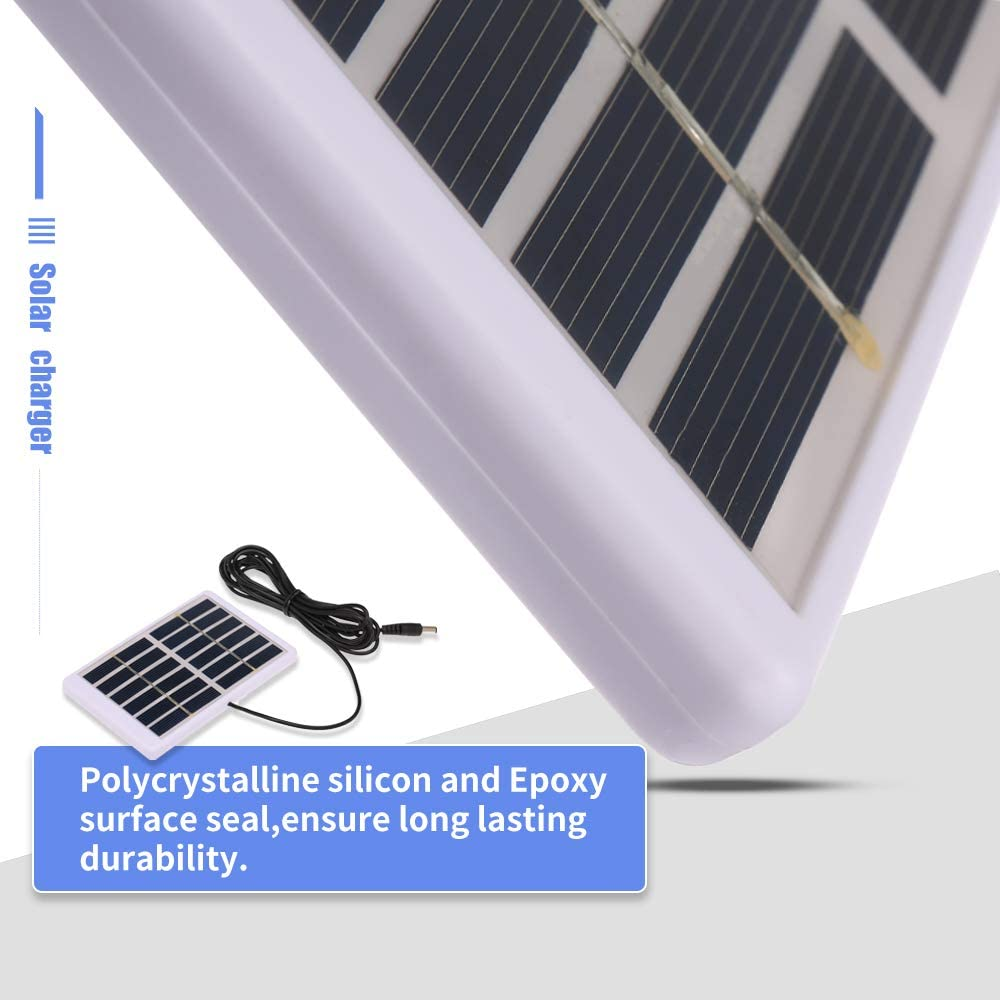 130mm For Garden//Traffic//Emergency Light Solar Pump Godyluck Solar Charger 1.2W//6V With 5521 DC Output 3M Cable Battery Charger Polycrystalline Solar Panel 84