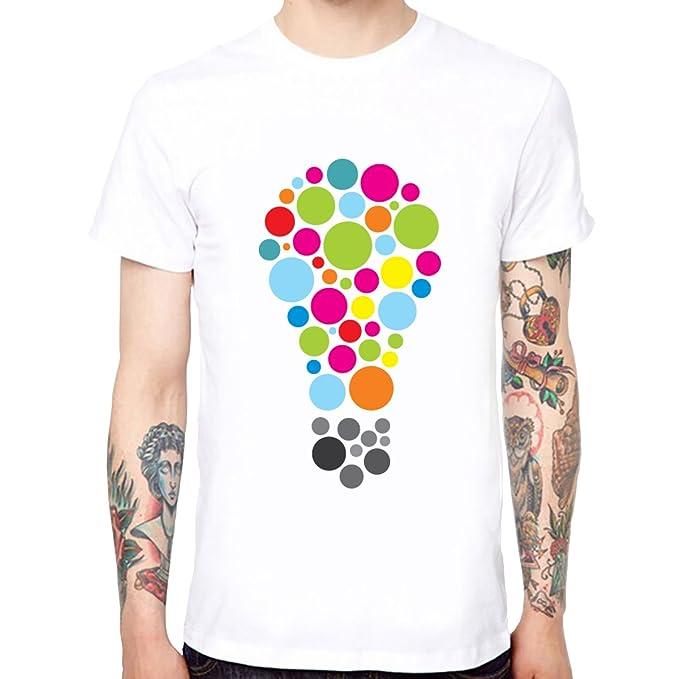 Bubble Tops Para Camisetas Lamp De Hombre Algodón Cool Funny Yingyan gqCFHfH