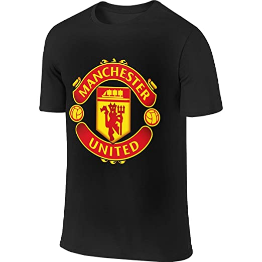c4f23699698f Men s Casual Cotton T Shirt Cool Manchester United Soccer Tee Shirts Short  Sleeve O-Neck