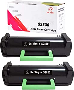 UniVirgin Compatible Toner Cartridge Replacement for S2830 Toner Cartridge for Use in S2830dn S2830 Printer (Black, 2-Pack)