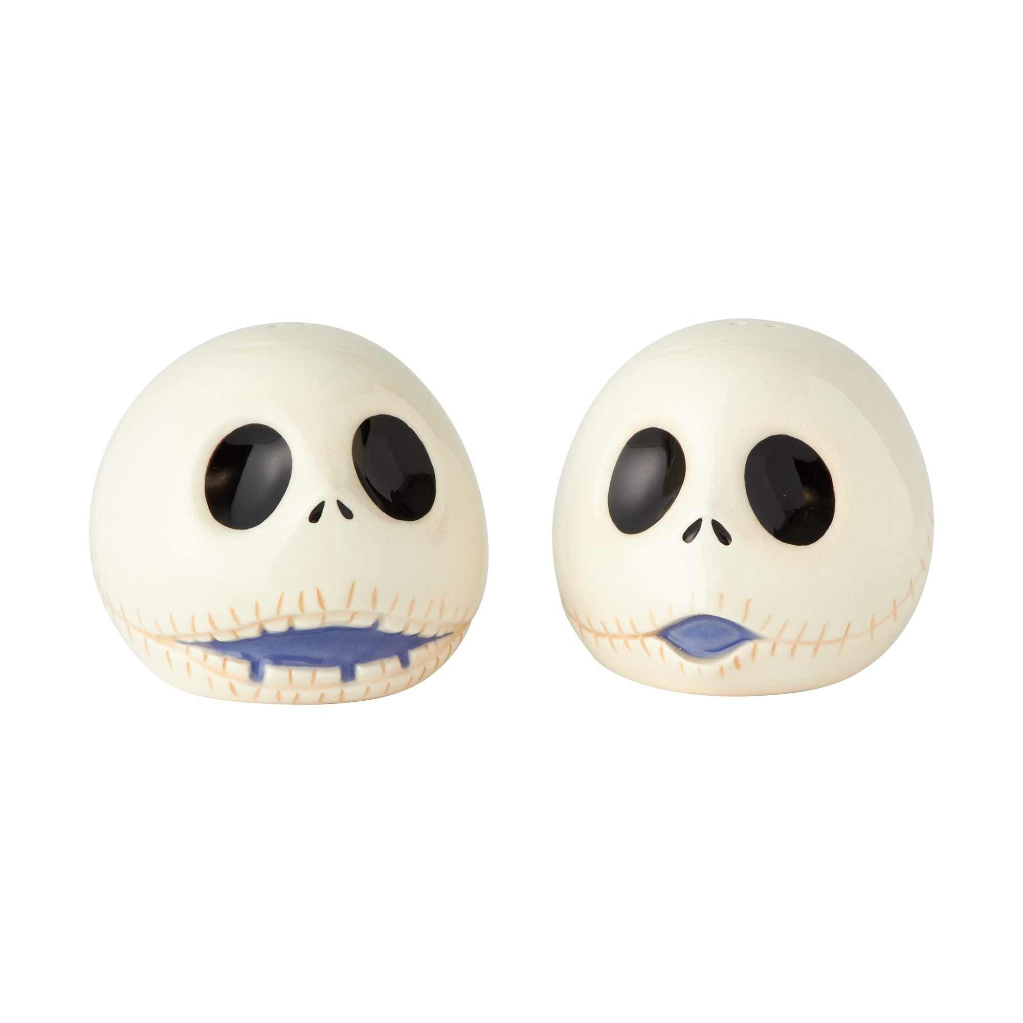 "Enesco Disney Nightmare Before Christmas"" Jack Ceramic Salt and Pepper Shakers, 2.5'', Multicolor"