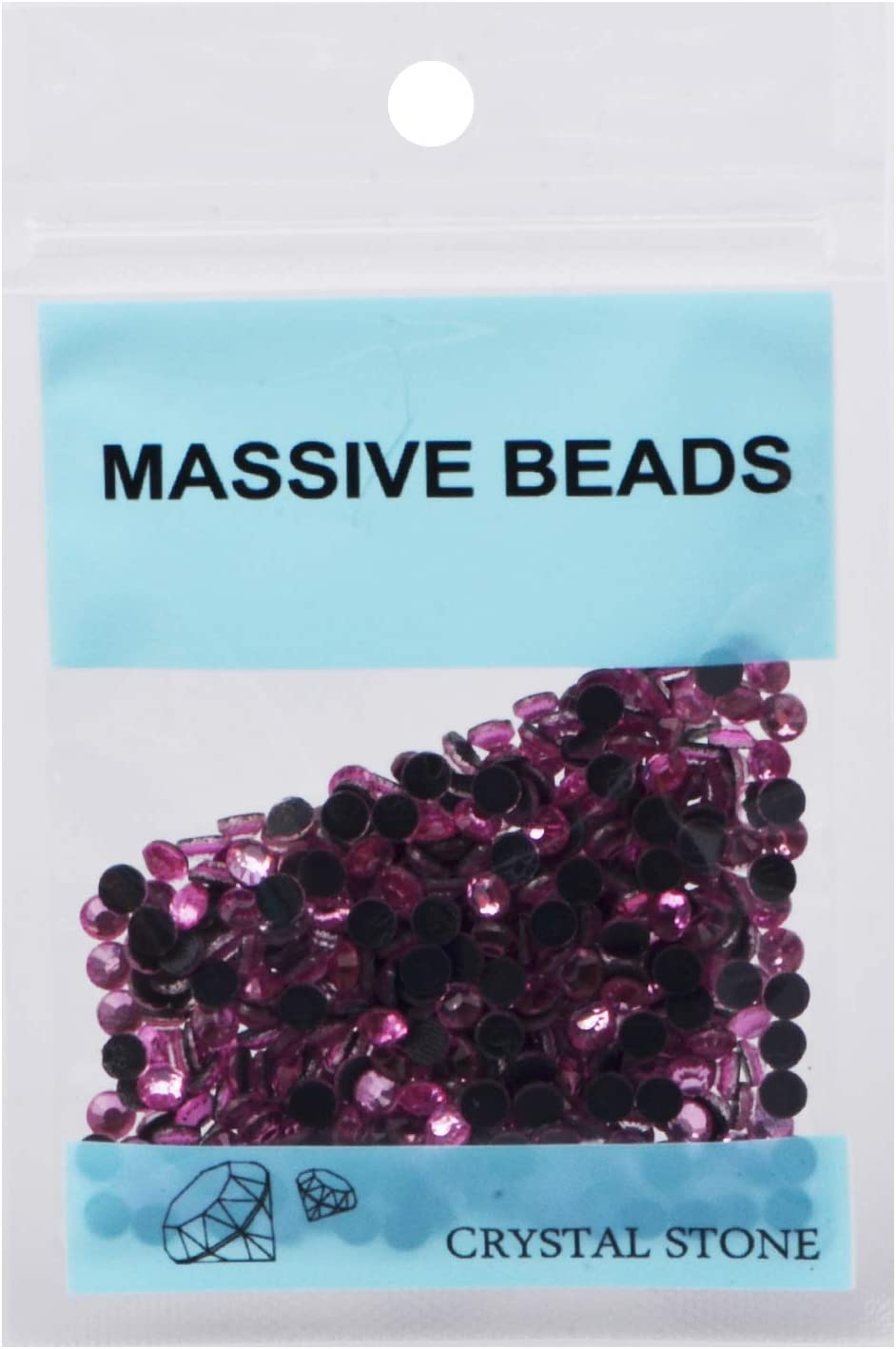 1500 Pieces Hot Fix Glass Flatback Rhinestones HotFix Round Crystal Gems Light Red, SS16