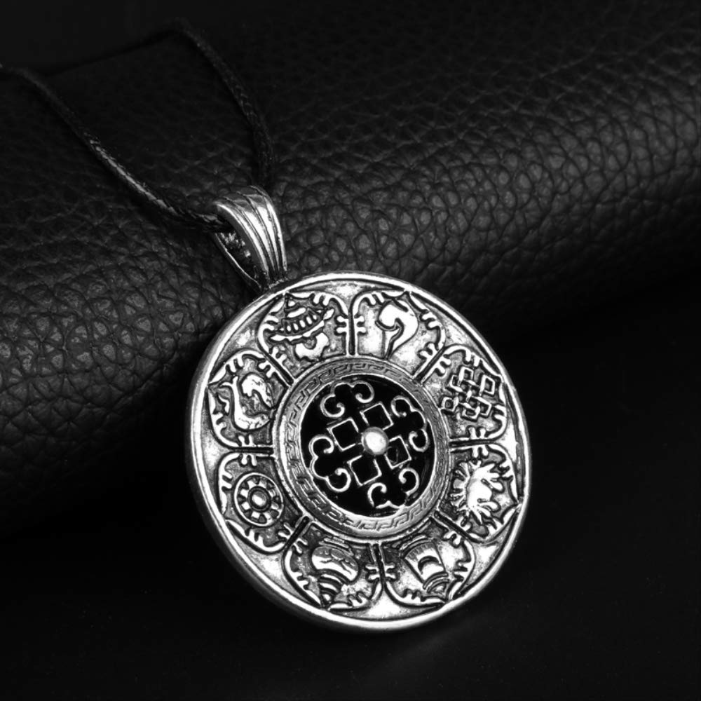 Necklace for Men Fashion Jewelry New Amulet Rune Norse Viking Odins Symbol Of Runic Vikings Pendant Necklace Runes Vegvisir Compass Men Gift