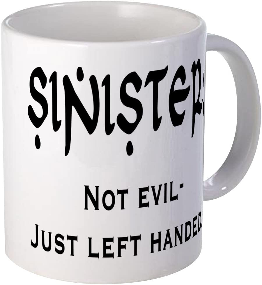 CafePress Left Handed Mug Unique Coffee Mug, Coffee Cup CafePress