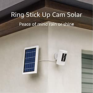 All-new Ring Stick Up Cam Solar HD security camera with two-way talk, Works with Alexa – 4-Pack