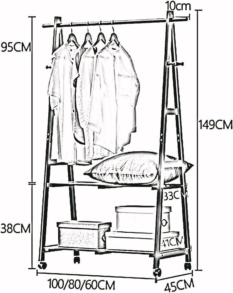 LJHA Perchero de Madera Maciza Rack//Simple//Dormitorio Perchero//Rack de Almacenamiento Infantil Perchas Color : D, Tama/ño : 60cm