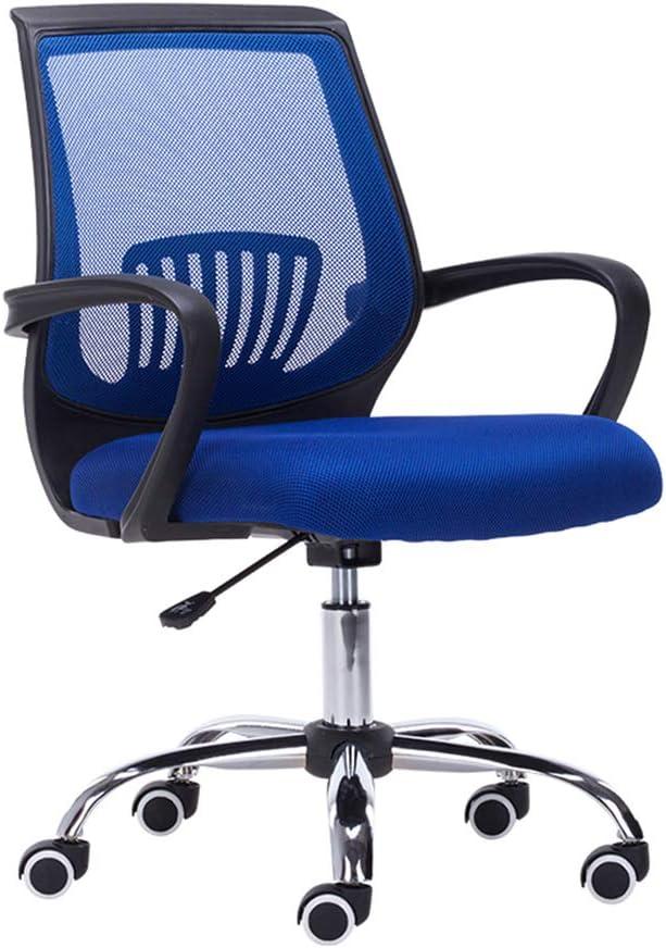 YKHOME giratoriaSilla de Oficina,Silla de Oficina Silla Escritorio Ergonómica Silla Giratoria con Respaldo Altura Ajustable con Ruedas,Azul